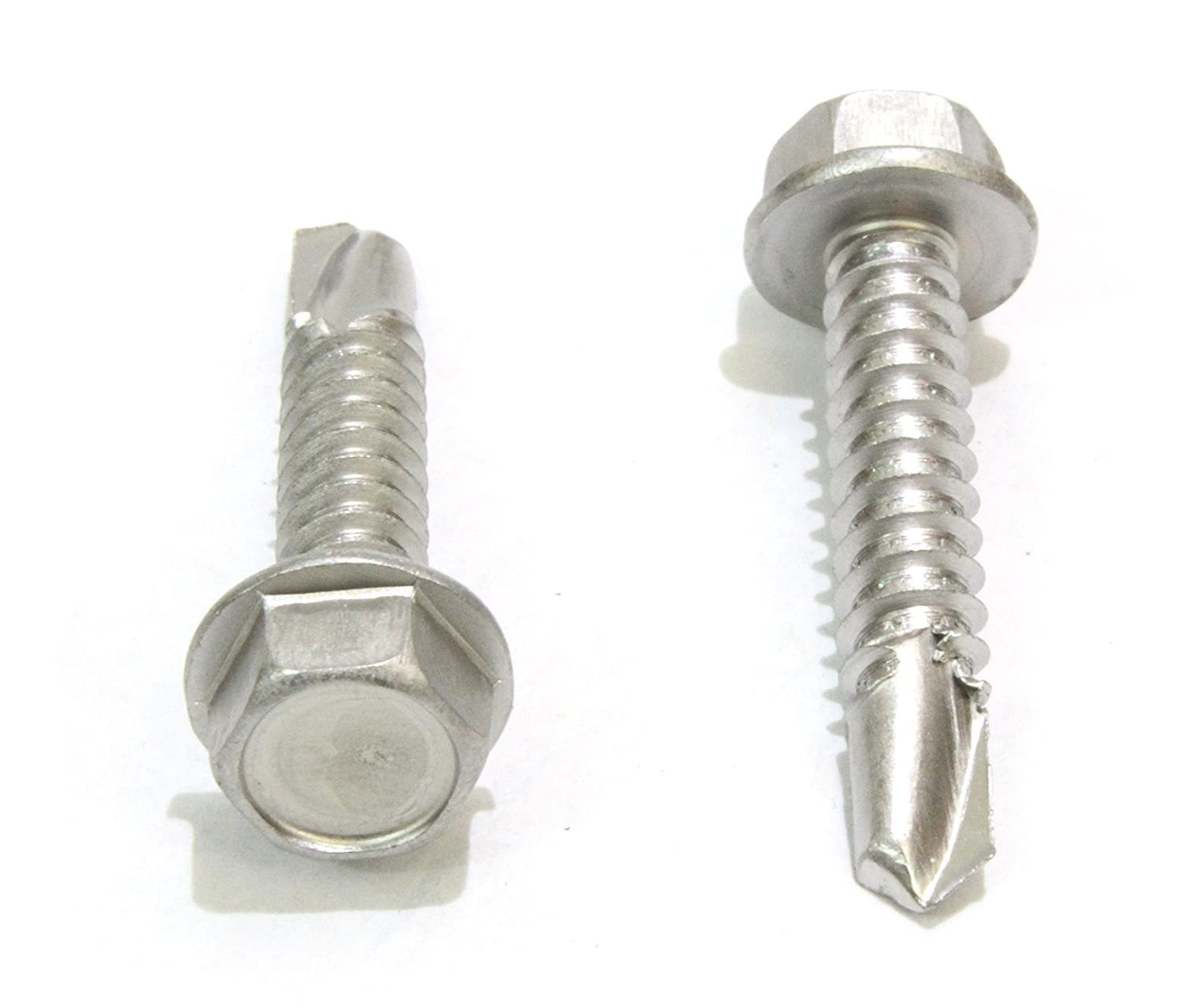"""#10 X 1-1/4\"""" Stainless Hex Washer Head selbst Drilling Screws, (100Pc) 410 Stainless Steel selbst Tapping Choose Size und Qty"""