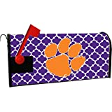 CLEMSON TIGERS MAILBOX COVER-CLEMSON UNIVERSITY MAGNETIC MAIL BOX COVER-MOROCCAN DESIGN