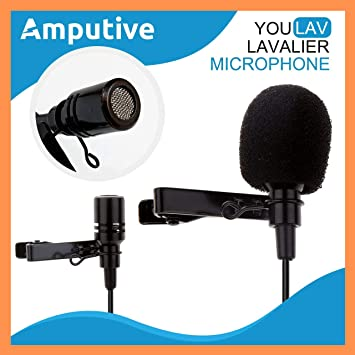 dc282021a8b Techlicious 3.5mm Clip Microphone For Youtube | Collar Mike for Voice  Recording | Lapel Mic