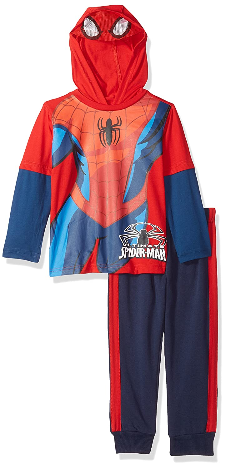 Marvel Boys 2 Piece Spiderman Hooded Top with Mask