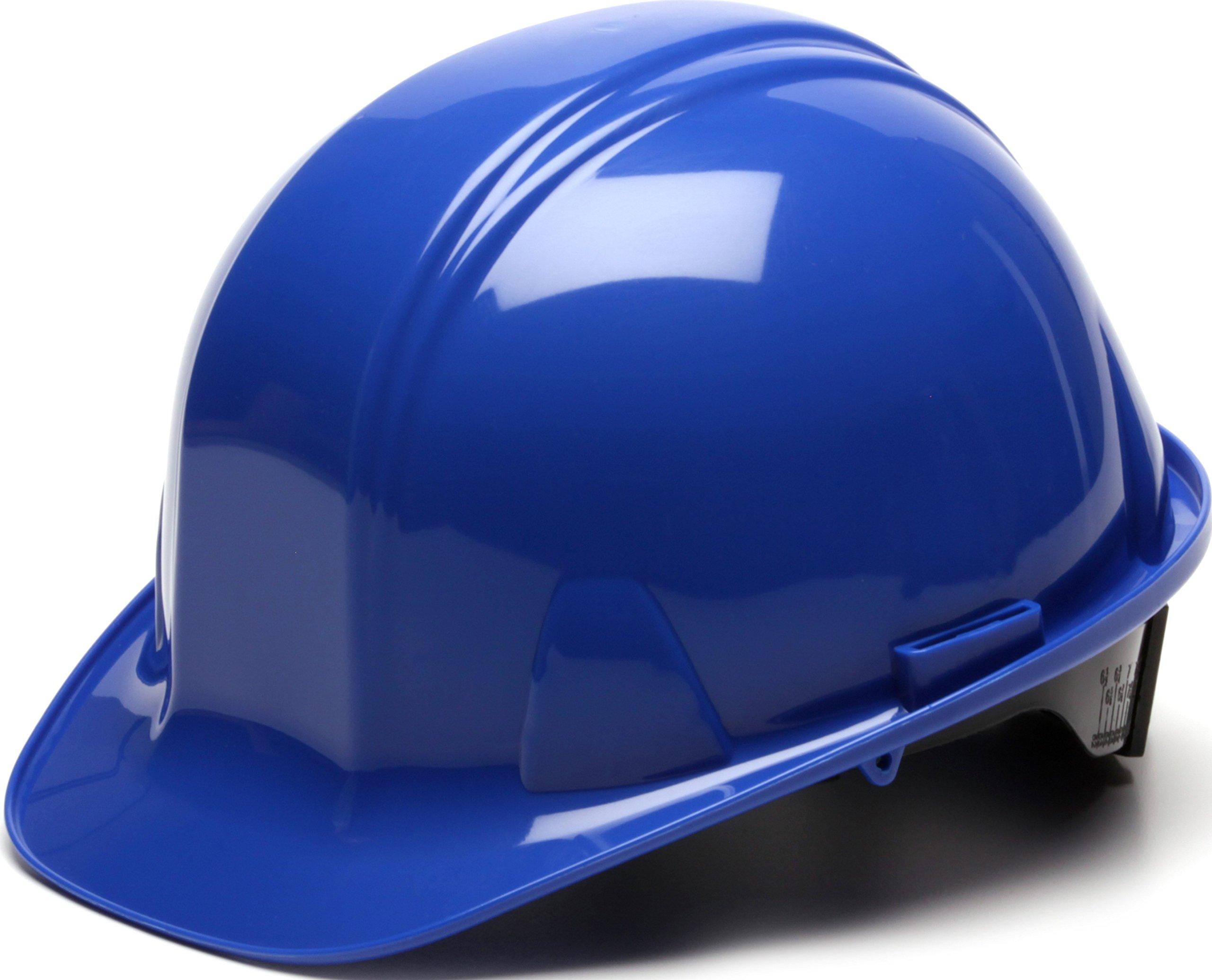 Pyramex Blue Cap Style 6 Point Ratchet Suspension Hard Hat