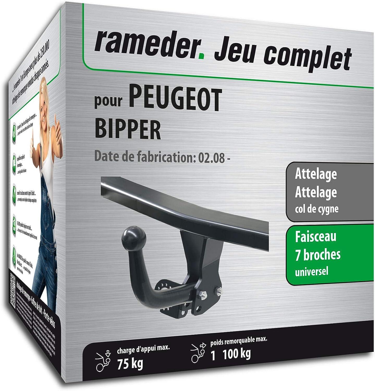 Faisceau 7 Broches 130386-08144-1-FR Rameder Attelage d/émontable avec Outil pour Peugeot BIPPER Tepee