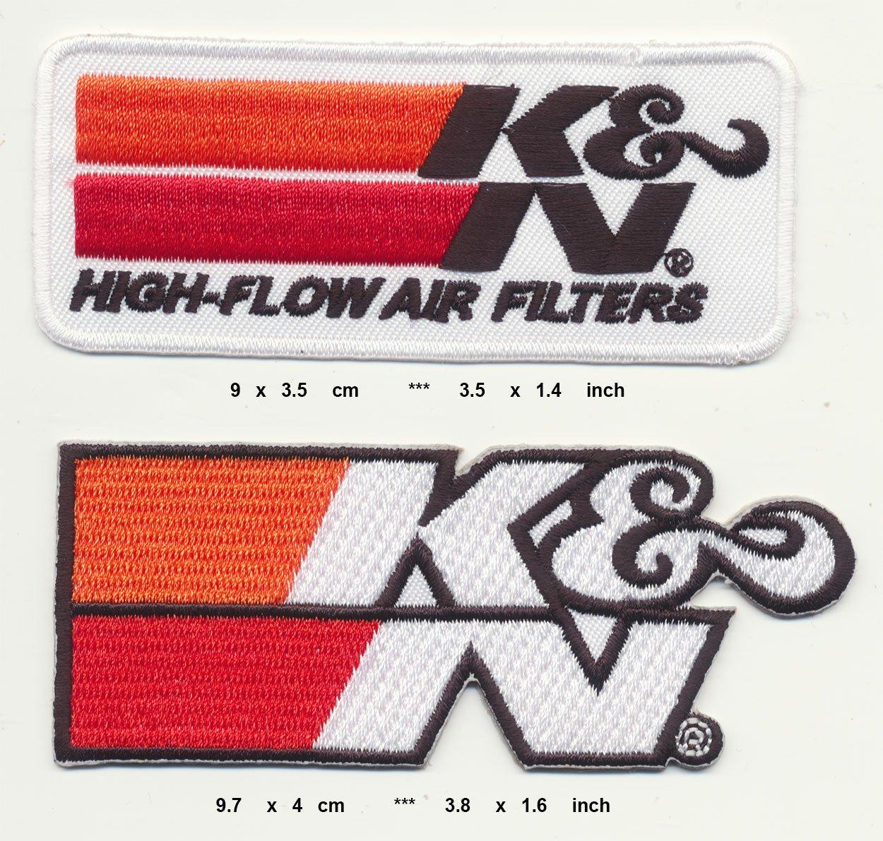 KN Air Filters Aufn/äher Aufb/ügler Patch 2 St/ück Racing USA TURBOVERSAND