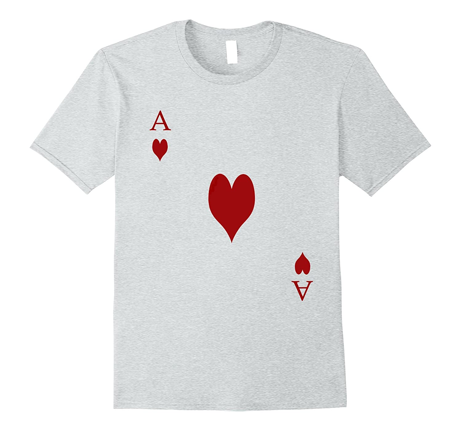 Ace of Hearts Tshirt Costume - Be Part of a Royal Flush!-BN