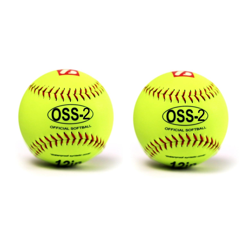 barnett OSS-2 palla da softball principanti t 12'', c giallo 2 pz