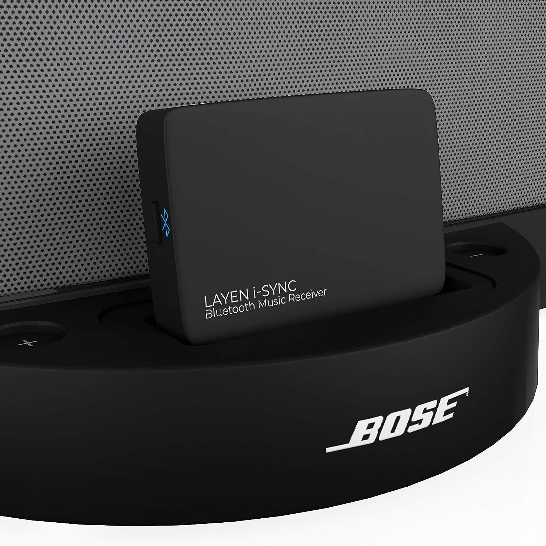 LAYEN i-Sync Receptor Bluetooth Bose de 30 Pines - Dongle de Audio para Bose SoundDock y Otras Estaciones de Acoplamiento de Alta fidelidad, estéreo y de 30 Pines (no Apto para automóviles)
