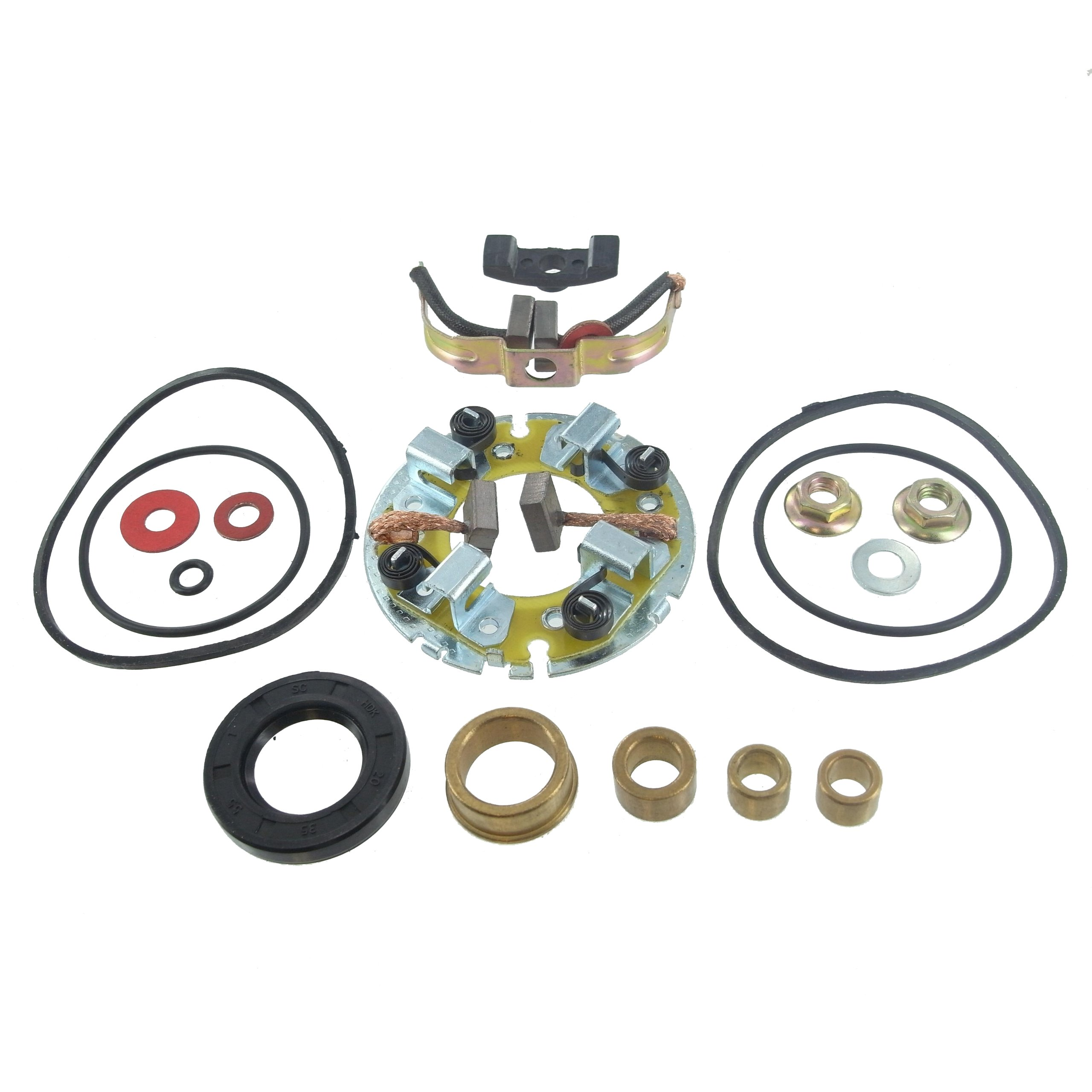Starter Motor Repair Kit for Kawasaki ATV KLT200 198cc 82-84 KLT250 246cc 83-85 KLF300 Bayou 290cc 86-88, Motorcycle KZ250 CSR 250cc 80-83 KZ440 LTD / Sports / Standard 440cc 80-83, Yamaha XS400 XS400S 392cc 81-82 SM-8203, 21163-1011, 4R4-81800-60-00