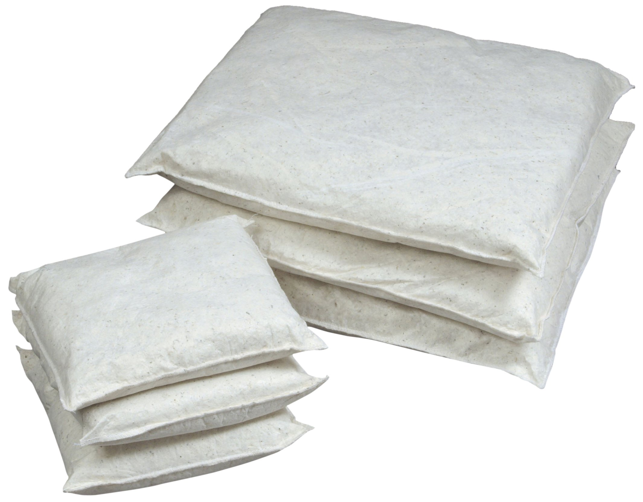 ESP 40WPILL1010 Poly-Cellulose Oil Only Super Absorbent Pillow, 51 Gallon Absorbency, 10'' Length x 10'' Width, White (Case of 40)