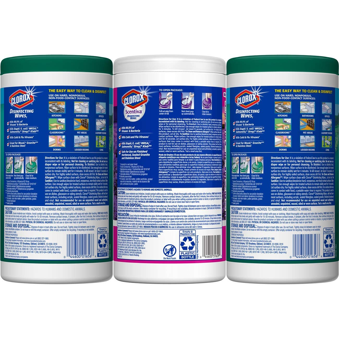 Clorox Disinfecting Wipes Value Pack, Bleach Free Cleaning Wipes, 3 Pack by Clorox (Image #7)
