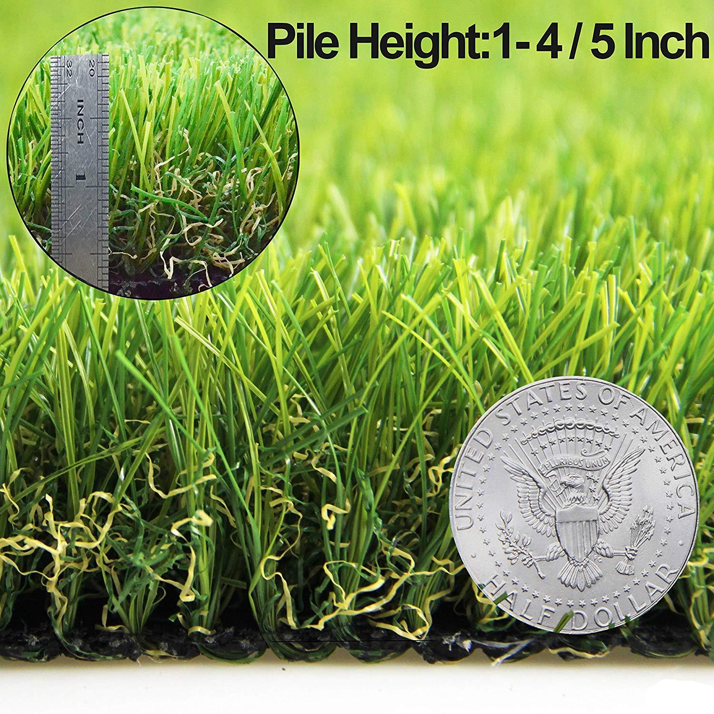 Amazon Com Artificial Grass Turf Lawn Fake Grass Mat Thick