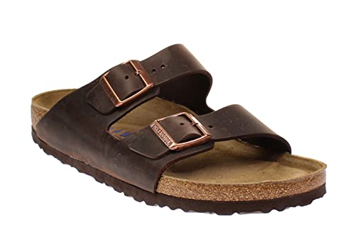 2dd3ee00b4a9 Image Unavailable. Image not available for. Color: Birkenstock 452763  Arizona Habana Soft Footbed Nubuck Leather ...
