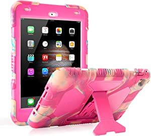 ACEGUARDER iPad Mini 4 Case Full Body Protective Premium Soft Silicone Cover with Adjustable Kickstand (Candy)