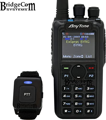 AnyTone AT-D878UV Plus Bluetooth W GPS. Free Programming Cable, 3100mAh Battery, AnyTone Course on BridgeCom University 97 Value , and BridgeCom Support.