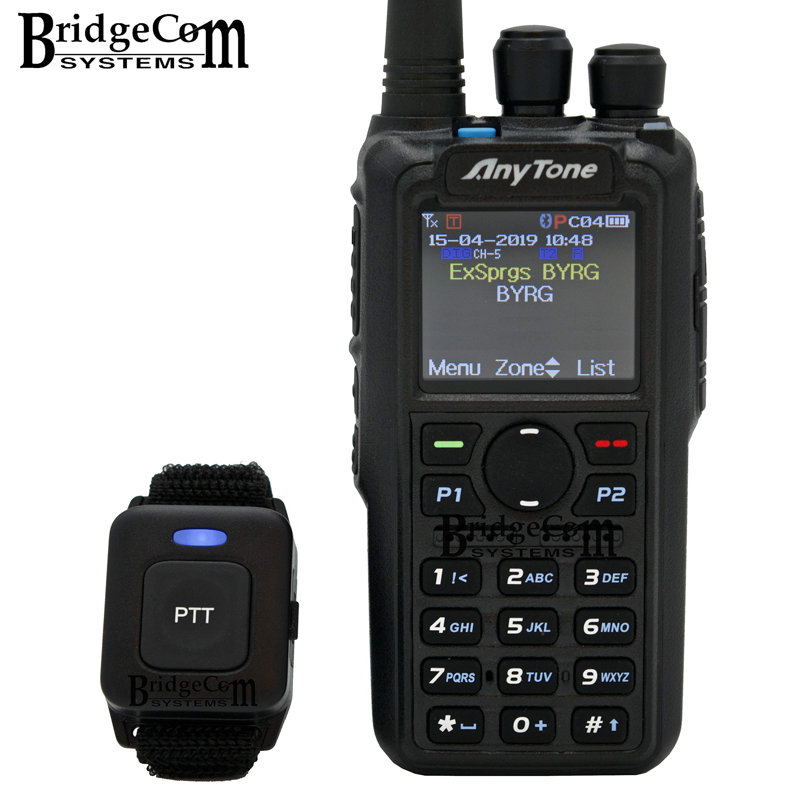 AnyTone AT-D878UV Plus Bluetooth W/GPS. Free Programming Cable, 3100mAh Battery, AnyTone Course on BridgeCom University ($97 Value), and BridgeCom Support. by BridgeCom Systems