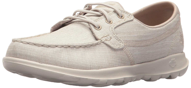 Skechers Women's Go Walk Lite-15433 Boat Shoe B071KLKX2L 5.5 B(M) US|Taupe