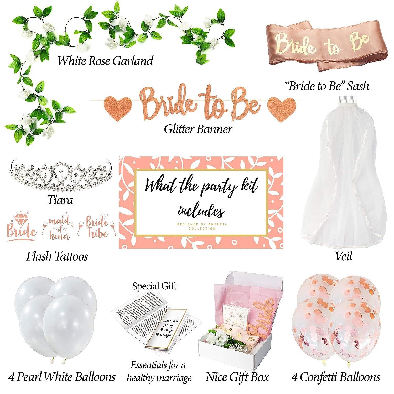 Antheia Collection - Kit de decoración para despedida de soltera ...