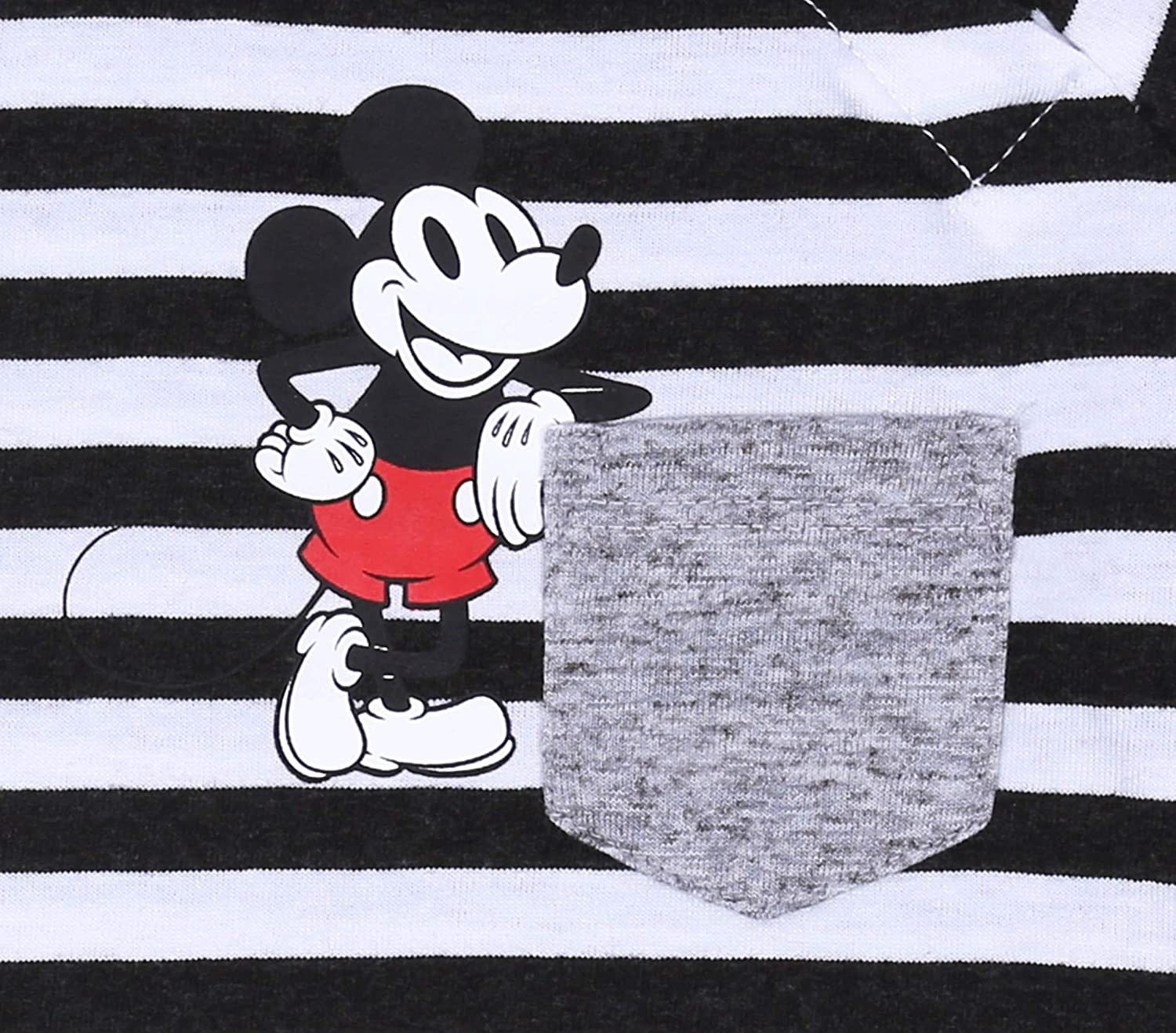 T-Shirt for Baby Boys Mickey Mouse Disney Long Sleeved Top 3 x Grey//Black