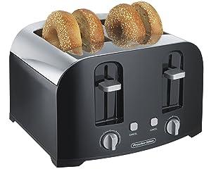 Proctor Silex 4-Slice Toaster, Black (24622)
