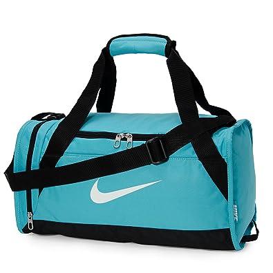 85823b2efeb6 Nike Brasilia 6 Extra Small Duffel Bag Omega Blue Black White ...
