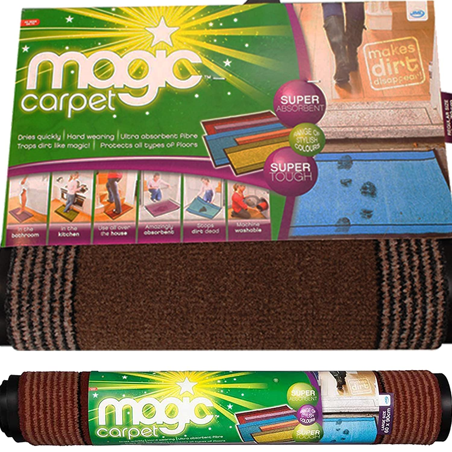 JML Small Magic Carpet Door Mat - Grey (992646899)
