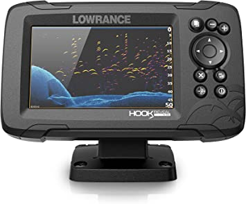 Lowrance Hook Reveal 5 Fish Finder - 5 Inch Screen with Transducer and C-MAP Preloaded Map Options