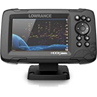 $299 » Lowrance Hook Reveal 5 Fish Finder - 5 Inch Screen with Transducer and C-MAP Preloaded Map…