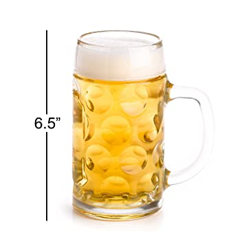 stolzle 05 liter dimpled glass beer stein