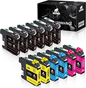 IKONG Compatible Ink Cartridges Replacement for Brother LC203 LC203XL LC201 LC201XL Works with Brother MFC-J460DW J480DW J485DW J680DW J880DW J885DW MFC-J4320DW J4420DW J4620DW J5620DW (12-Pack)