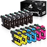 IKONG Compatible Ink Cartridges Replacement for Brother LC203 LC203XL LC201 LC201XL Works with Brother MFC-J460DW J480DW J485
