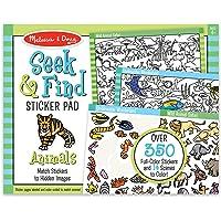 Melissa & Doug 30152 Seek & Find Sticker Pad- Animals Sticker Sets & Activity Pads