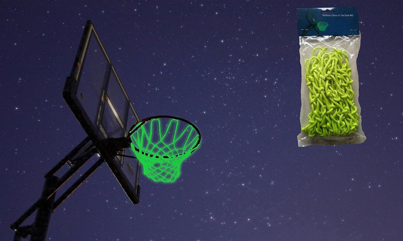 amazon com mcnick glow in the dark outdoor basketball net rim