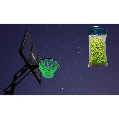 MCNICK & COMPANY Glow in The Dark Outdoor Basketball Net Rim Hoop Heavy Duty