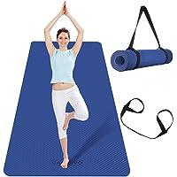 CAMBIVO Extra brede yogamat, TPE milieuvriendelijk (183 x 80 x 0,6 cm), antislip fitnessmat, lichtgewicht reisyogamat…