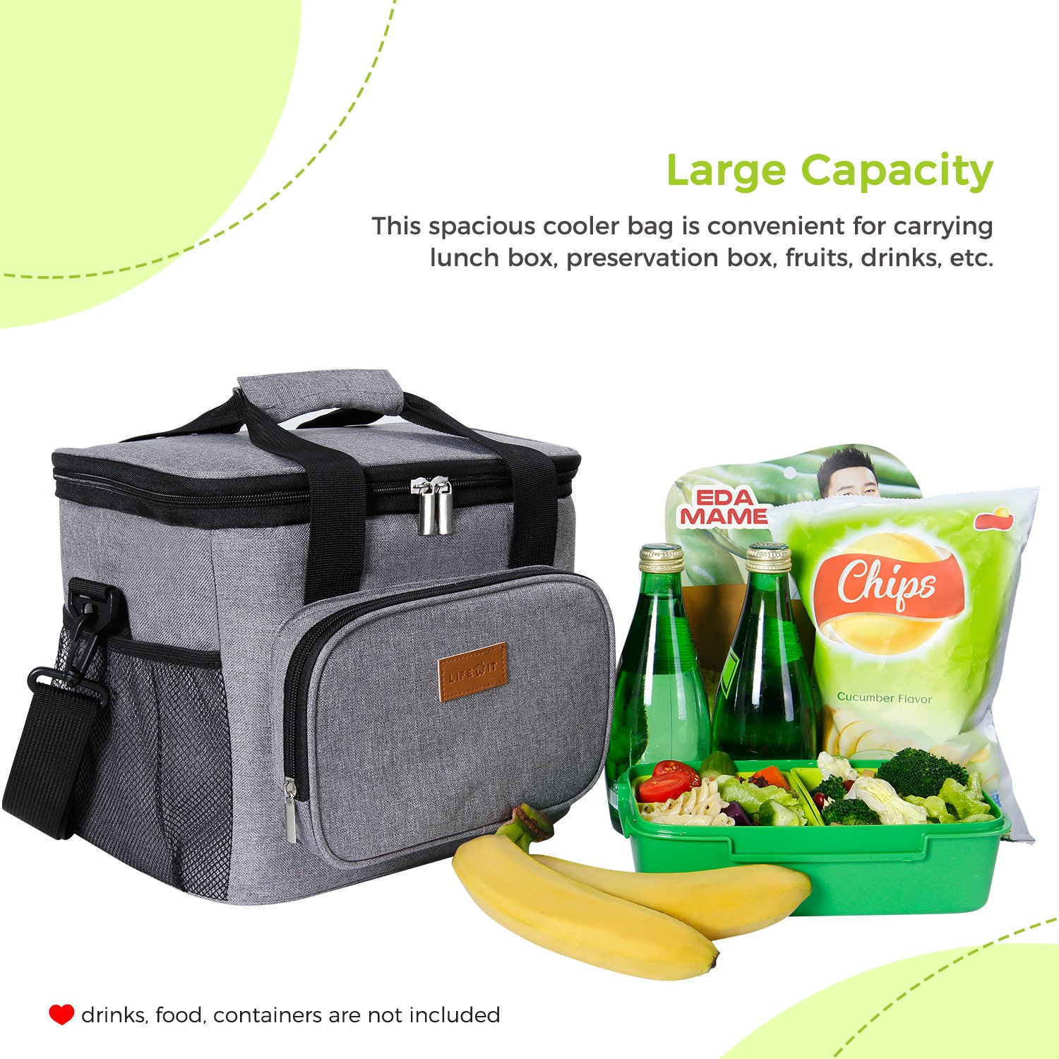 Lifewit 15L Insulated Lunch Box Bag Cooler Bag Storage for Beach//Picnic//Camping