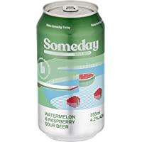 Brick Lane Brewing Someday Sour Raspberry and Watermelon Sour Beer 355ml case of 16