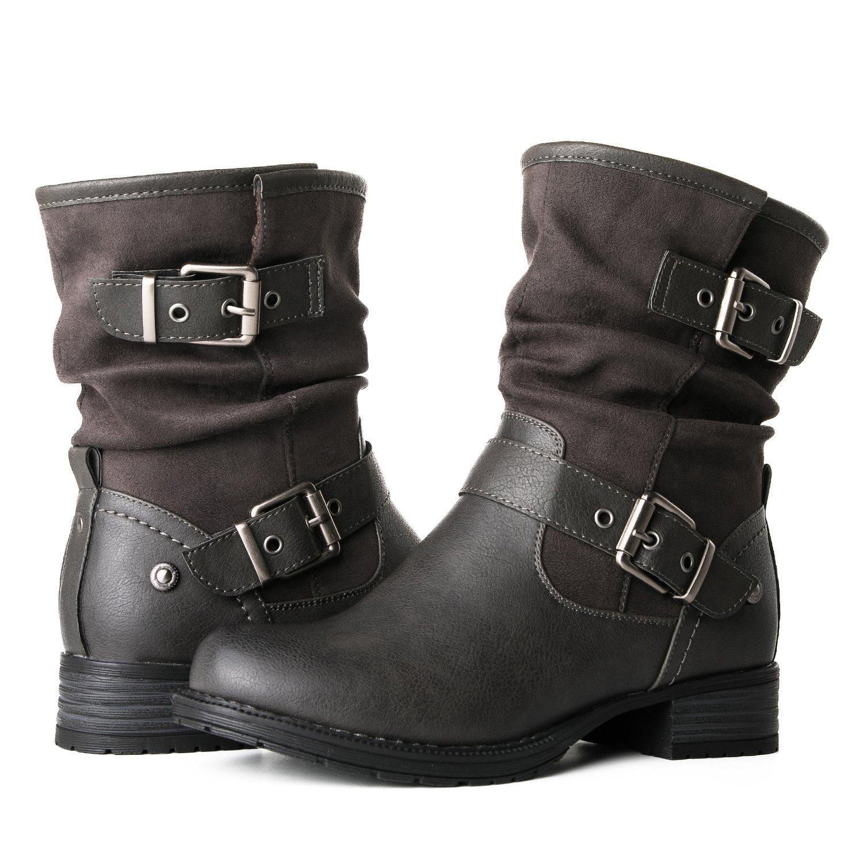 Globalwin Women's 17YY12 Fashion Boots (7.5 M US Women's, 12Grey)
