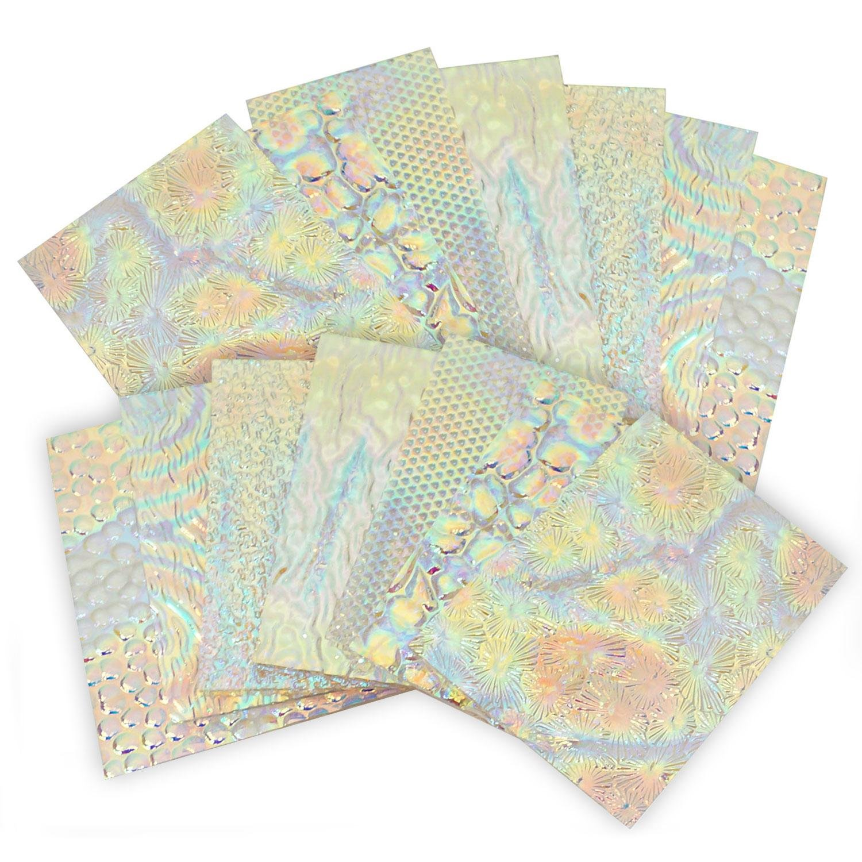 1 Lb Dichromagic Tie Dye Scrap On Wissmach Thin Clear Textures - 96 Coe by Austin Thin Films Inc (Image #2)