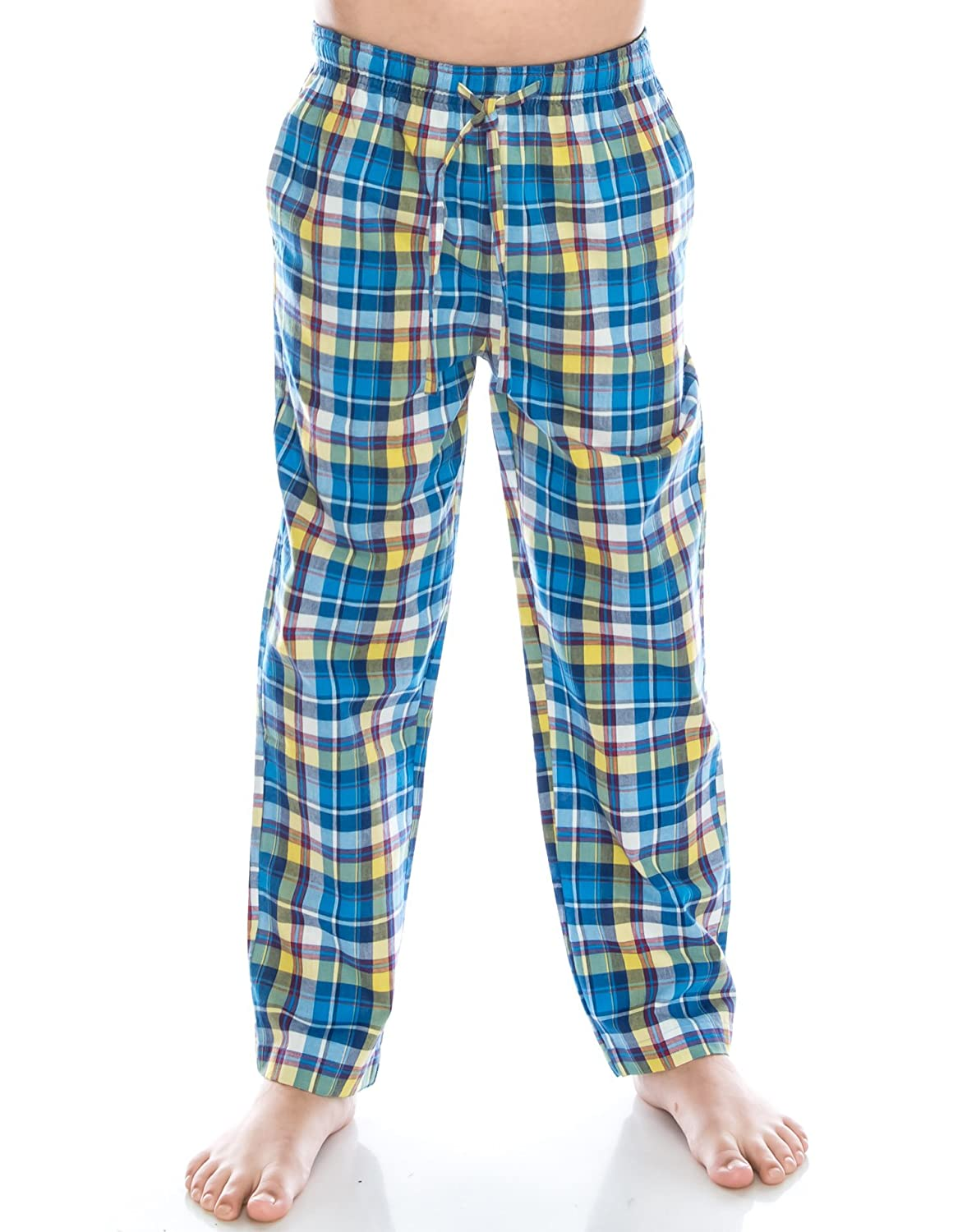TINFL 6-14 Years Big Boys Plaid Check Soft Lightweight 100% Cotton Lounge Pants TINFL-PB02