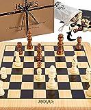 Jaques of London Juego de ajedrez Completo con Piezas - Tablero de ajedrez de Calidad y Piezas de ajedrez Jaques…