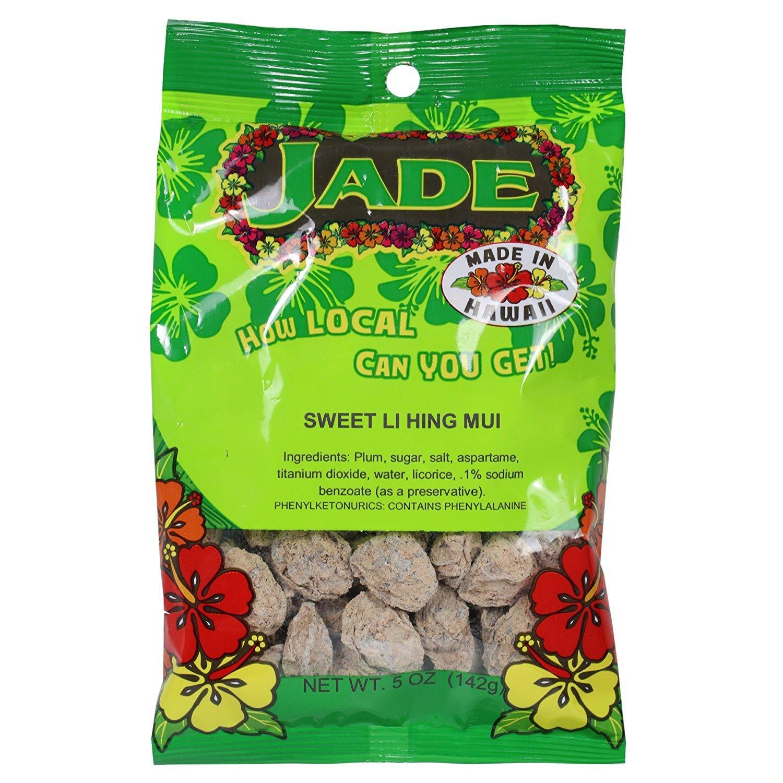 Jade Sweet Li Hing Mui Dried Plums 5 Ounces