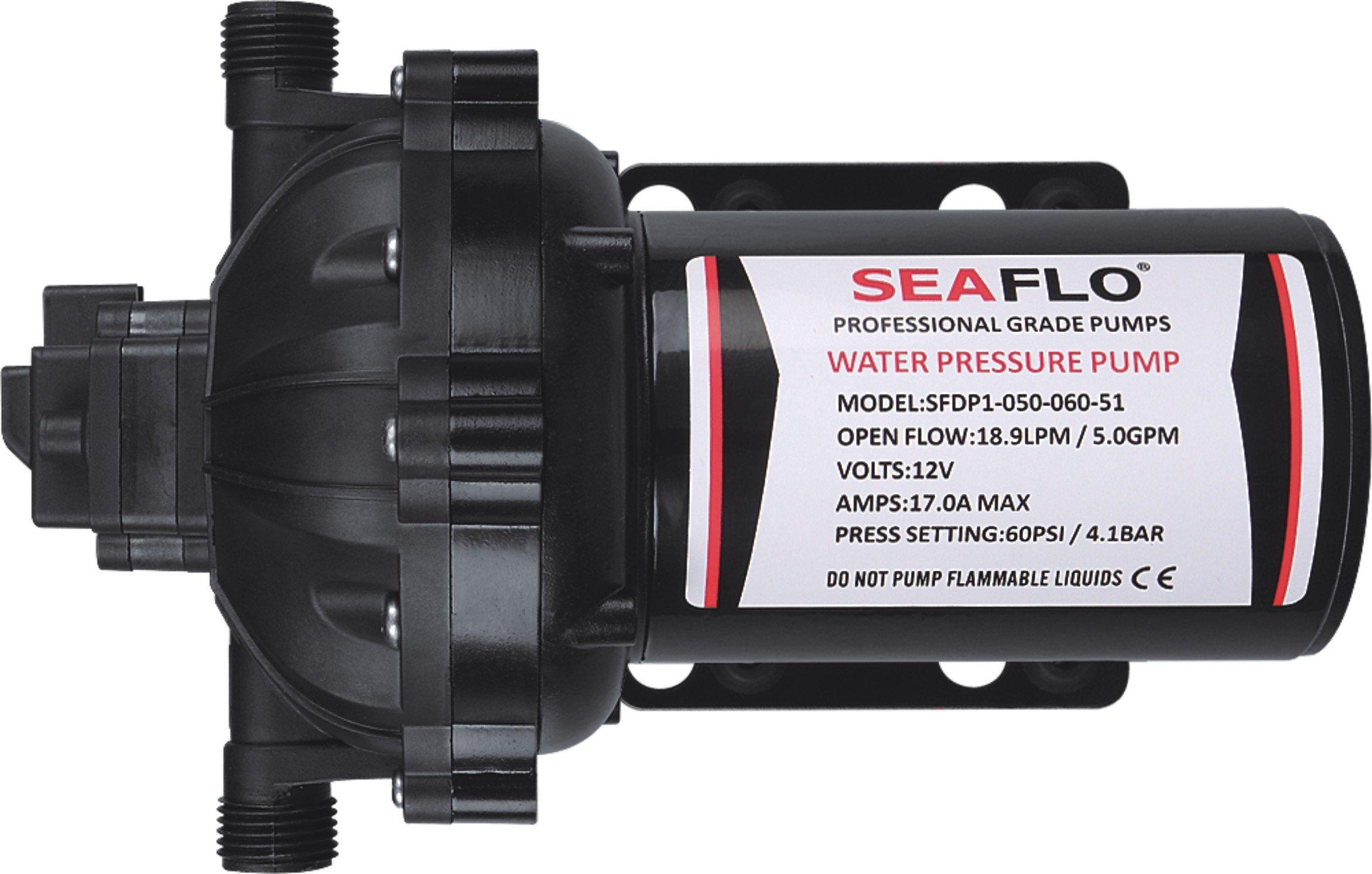 SEAFLO 12V 5.0GPM 60PSI 51-Series Water Pressure Diaphragm Pumps Self Priming Agricultural Sprayer