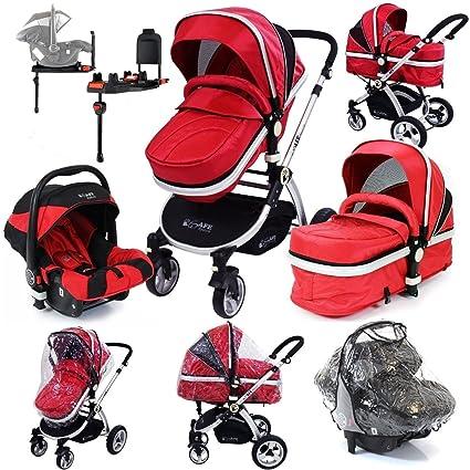 iSafe sistema + Base Isofix, color rojo sistema de viaje Cochecito de bebé y lujo
