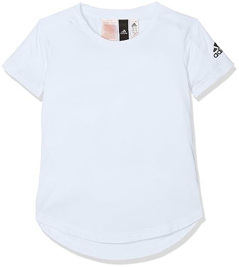 Adidas Cf6670 Camiseta, Niñas, Azul (aeroaz/Negro), 116-5