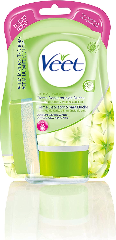 Veet Crema Depilatoria Ducha Piel Seca 150ml: Amazon.es: Belleza