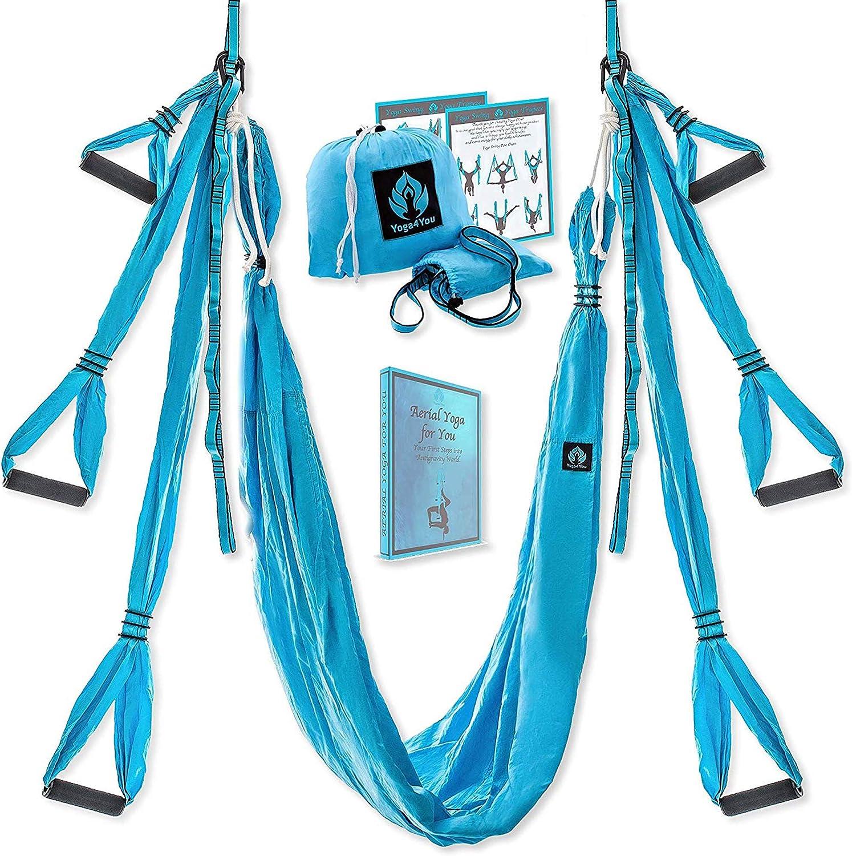 Finelyty Accueil Aerial Yoga Hamac Set Acrobatic Dance Hamac de Yoga Aerial Silk Fabric Yoga Swing