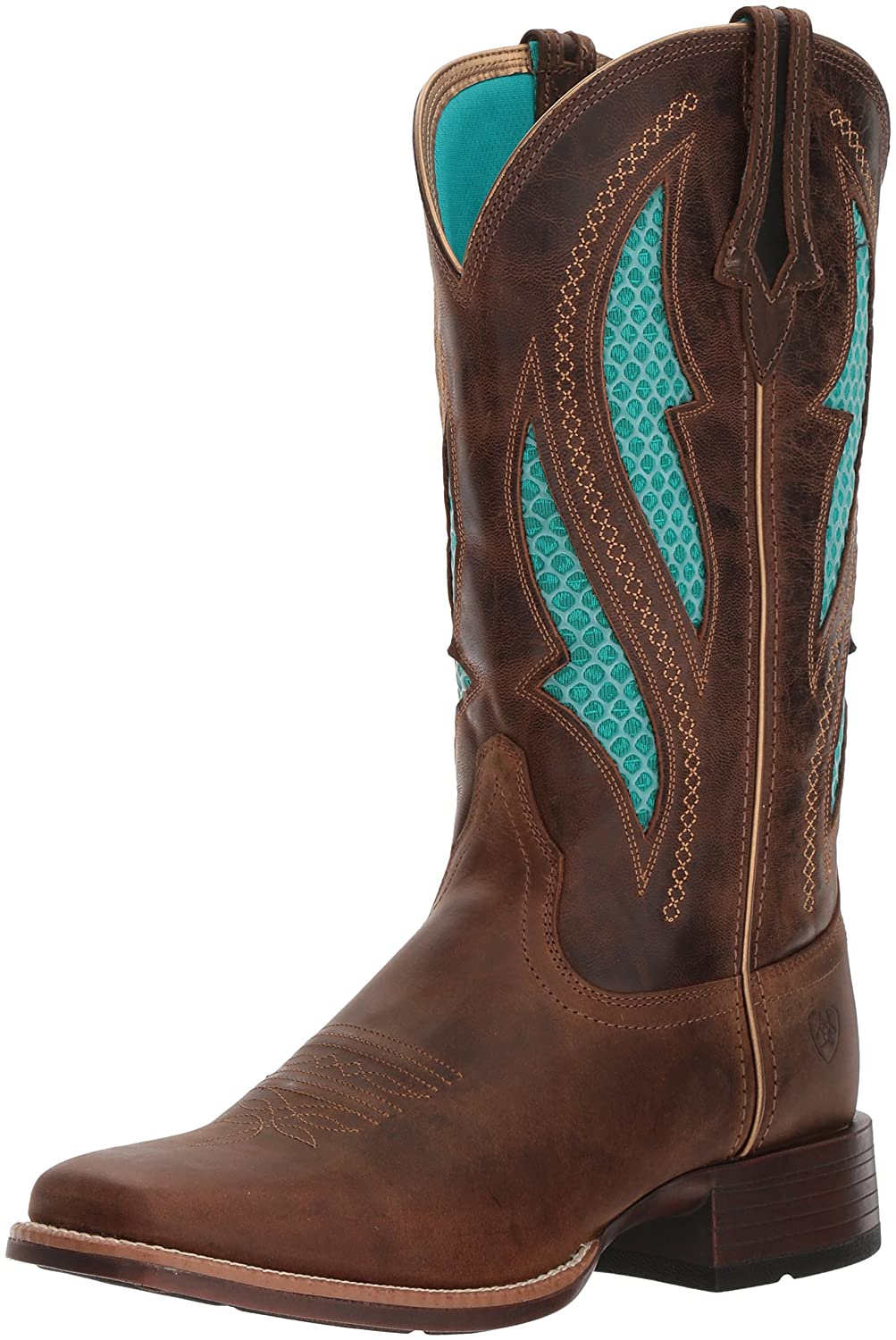 Ariat Women's Venttek Ultra Western Boot B076MD7QTB 9 M US|Distressed Brown/Silly Brown