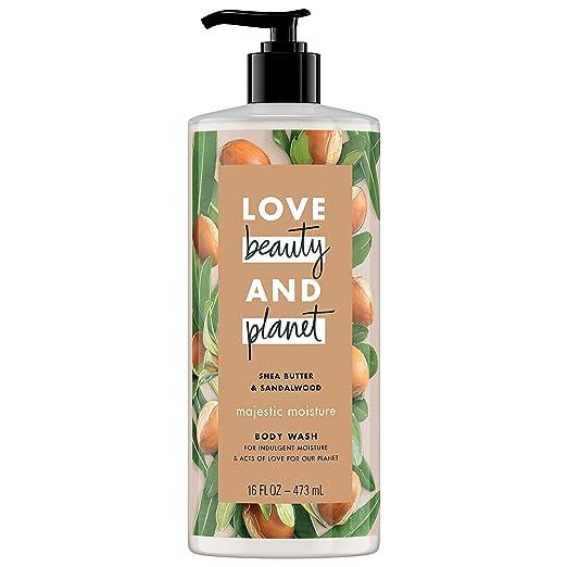 Love Beauty and Planet Majestic Moisture Body Wash, Shea Butter & Sandalwood, 16 Ounce