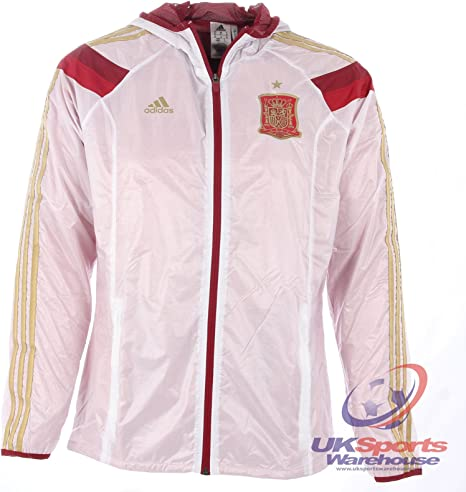 adidas Official España Anthem Nacional Fútbol Squad Español Equipo Chaqueta - XXXG: Amazon.es: Deportes y aire libre