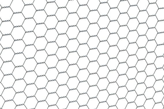 0,50 cm ESTEXO Sechseckgeflecht Gartenzaun Drahtzaun verzinkt 13 mm Maschenweite 25 m L/änge Gitterzaun Kaninchendraht Drahtgitter Volierendraht Hasendraht Kaninchendraht Drahtgeflecht