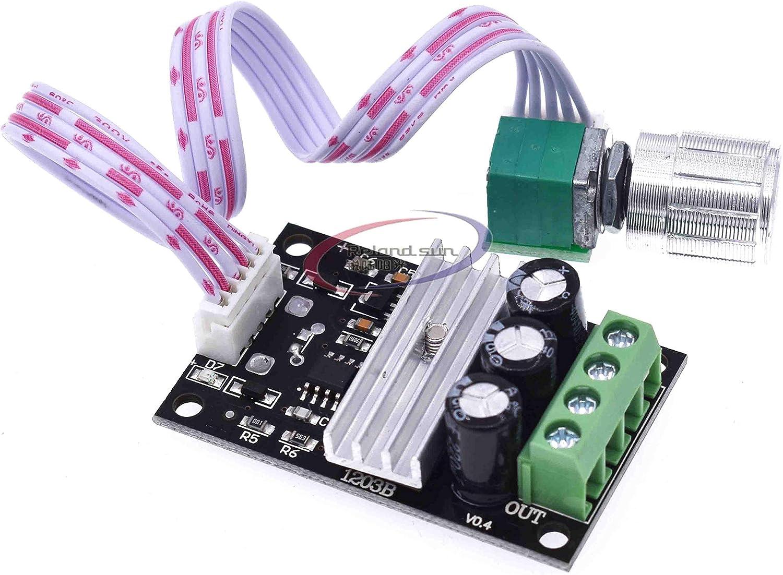 80W PWM DC Motor Speed Controller Module With Switch 1203BKW  3A 6V 12V 24V 28V